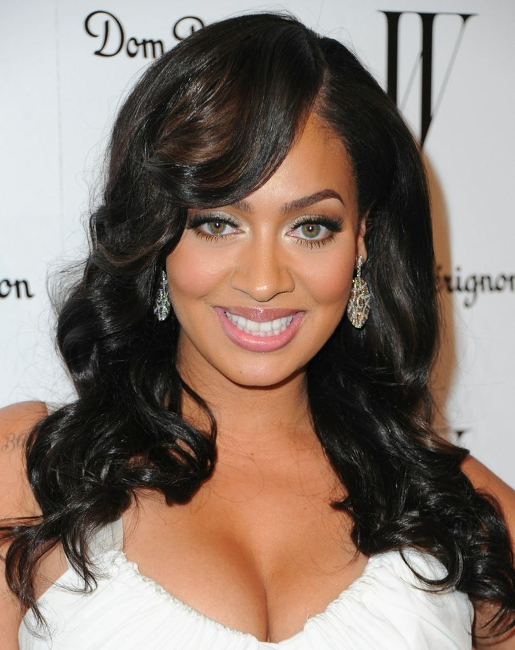 Lala Vazquez Long Wavy Custom Full Lace Human Hair Wig With Bangs Celebrity Hair Wigs Wigs