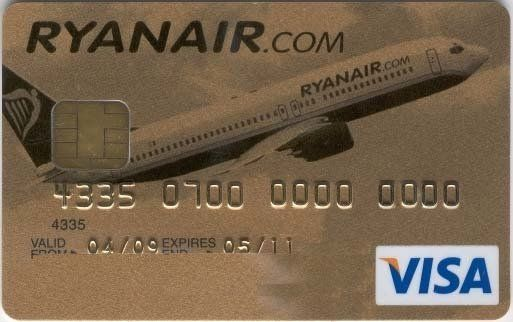 "Visa Gold ""Ryanair"" (MBNA Europe Bank, Ireland) Col:IE-VI-0003"