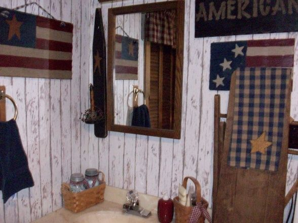 Primitive-Americana Bathroom