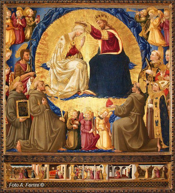 Neri di Bicci - Incoronazione della Vergine (Verna) - 1472-1475 - Museo della Verna (detta sala pinacoteca), Arezzo