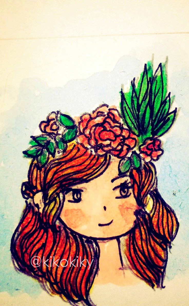 actually I am the princess of flowers, cute huh?
