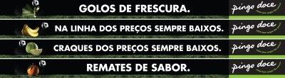 decoração Pingo Doce para o campo de futebol de treinos do Sporting Club dde Portugal no Torcifal.