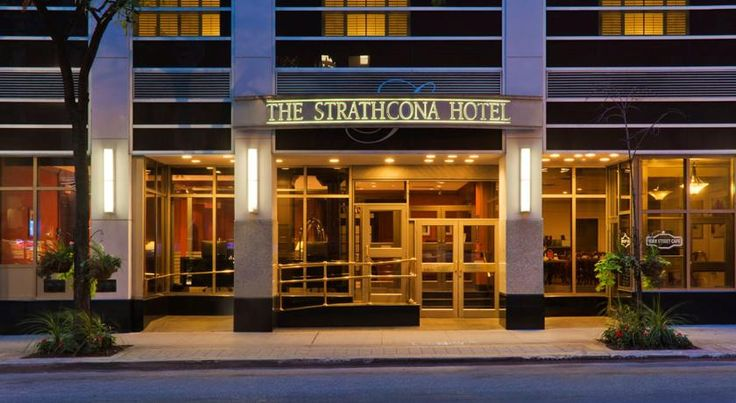 The Strathcona Hotel Toronto This downtown Toronto hotel, located in the Financial District, is just a short walk to Toronto's Theatre District. It offers a café, British-style pub and contemporary accommodations.
