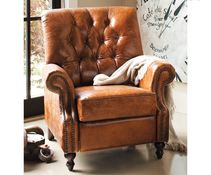 At Napastyle Sarentino Leather ReclinerA perfect escape after – Leather Recliner Club Chairs