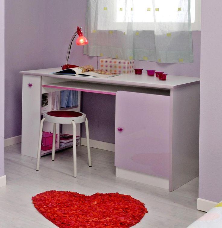 Schreibtisch Sweety Das Kinderzimmer - Programm Sweety wurde direkt aus einem Märchenbuch herausgelesen. In Zuckerwattenfarbe getauchte Hochglanzfronten versprühen lieblichen Anmut. Die Möbelgriffe in... #schreibtische #kinder