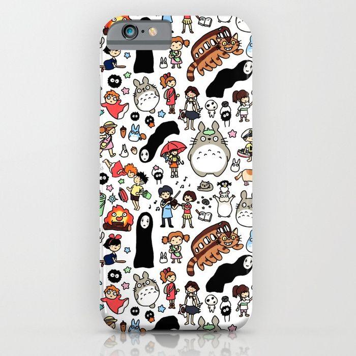 Kawaii Ghibli Doodle iPhone Case   Ghibli, Iphone cases, Case
