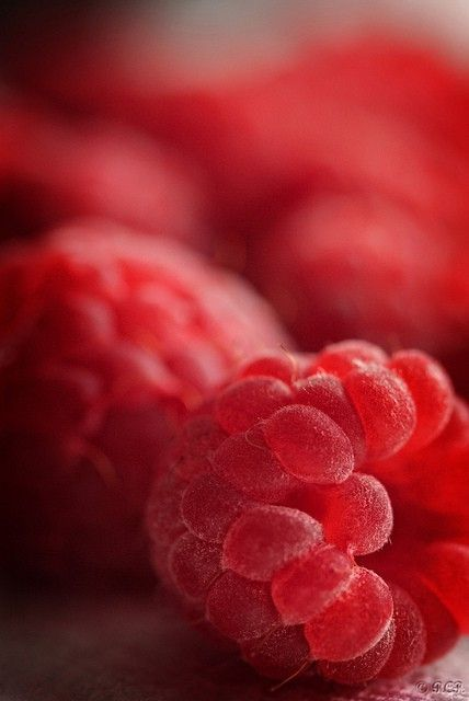 Rasberries, beautiful close up.