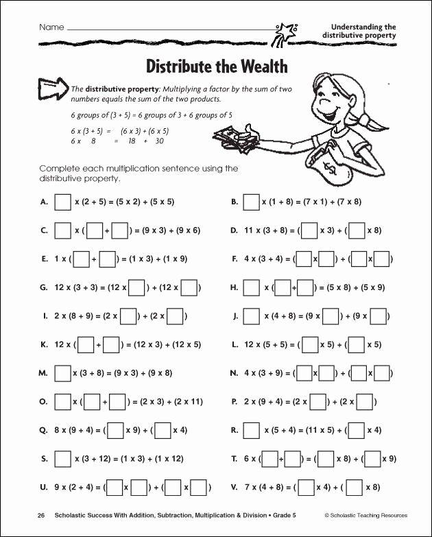 Worksheet On Math Properties In 2020 Distributive Property Distributive Property Of Multiplication Properties Of Multiplication