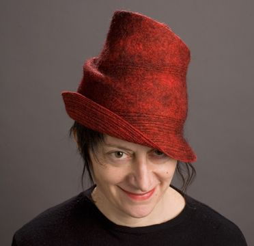 Jean Hicks, Feltmaker Her stitched hats are amazing as are her exciting, smooth surfaced hats. Can I say amazing again?