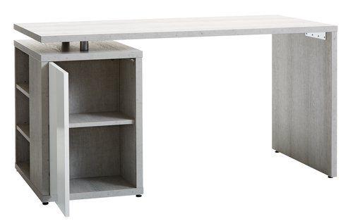 Íróasztal ULLITS szürke/magasfényű fehér