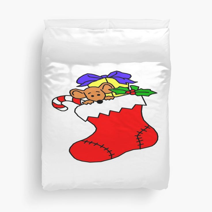 Why not make a room look more Christmas like with this awesome looking stocking duvet cover?