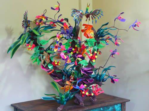 Mexican Folk art, Tree of Life, Galleria Atotonilco. Artists: Claudio Ojeda and Teresa Gonzalez.