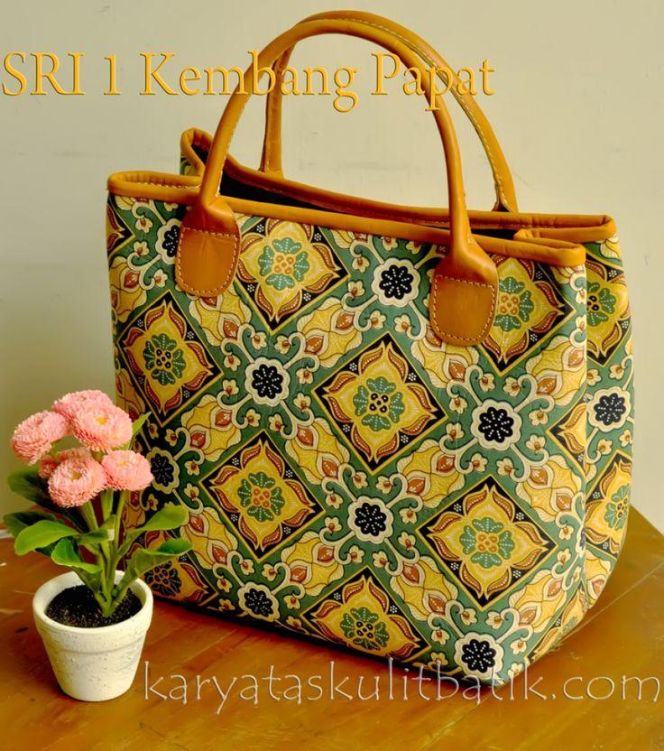 Tas Kulit Batik SRI 1 (tote bag) Kembang Papat