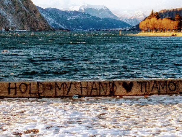 #Włochy #Lecco #Jezioro #Como #italia #italy #lombardia #alpy #północne #widok #krajobraz #romantycznie #miasto #zima #śnieg #kocham #ti amo