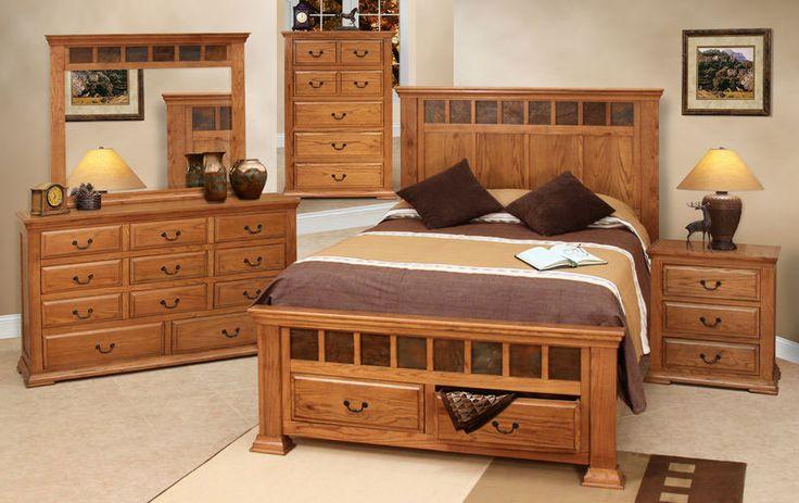 bedroom furniture sets | Cantera Rustic Oak Bedroom Furniture Set