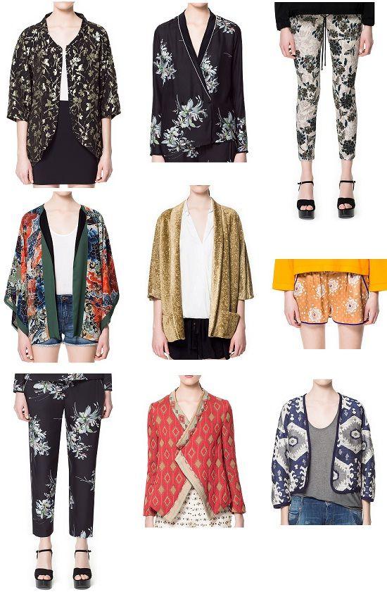kimono fashion trend | Centro/ middle : Chaqueta kimono , chaqueta kimono , shorts