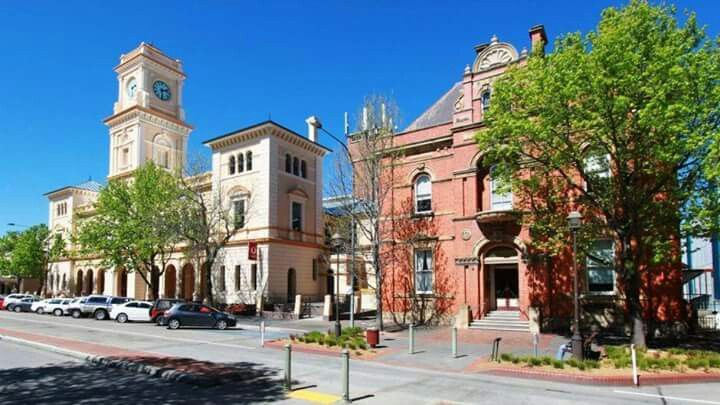 The post office and town hall in Goulburn, NSW