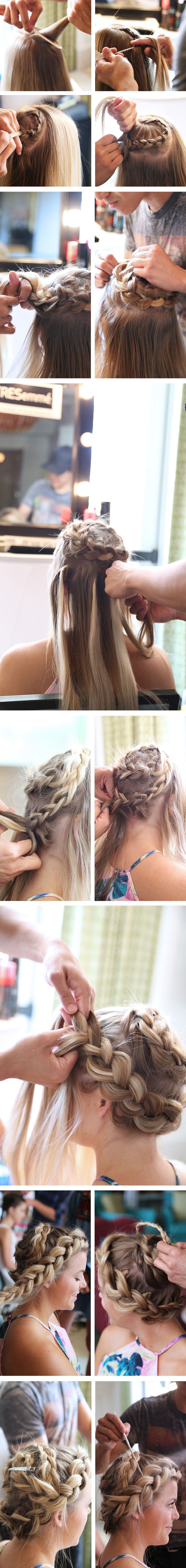 My Summer Hair Series with TRESemmé is coming to an end today with this third + final hairstyle. But dare I say, we saved the best for last?! This Chunky Spiral-esk Braid was pure perfection during Mi