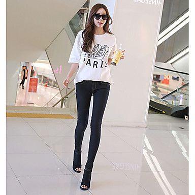 Slim Cut Stylish Denim Jeans #koreanfashion #tomnrabbit #crgang