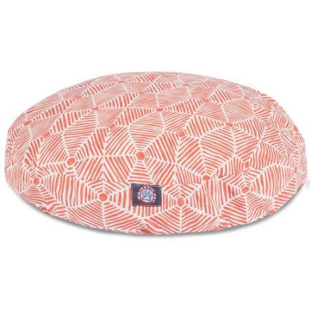 Charlie Small Round Dog Bed, Pink