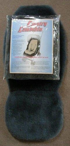 Grey lambskin pram liner