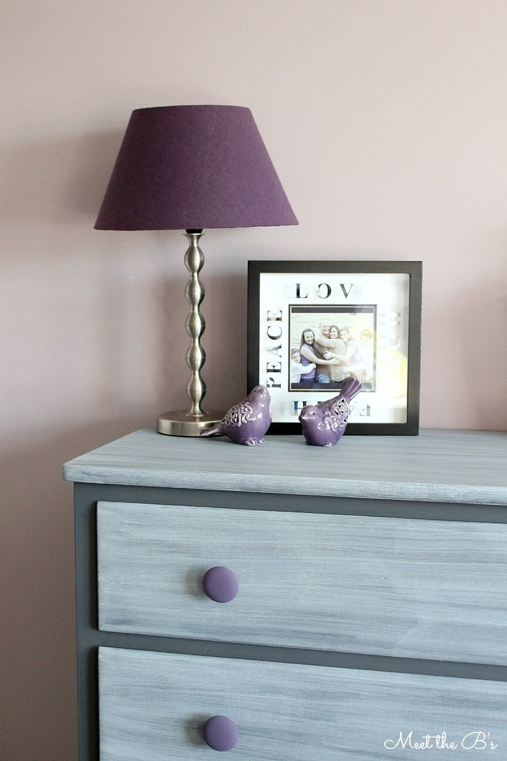 DIY Dresser Makeover- How to grey wash a dresser with chalk paint!