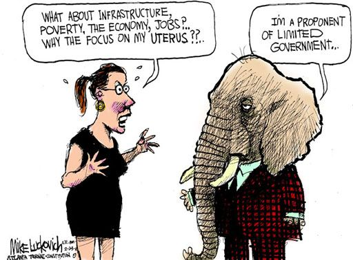 Image result for republicans anti- government cartoon