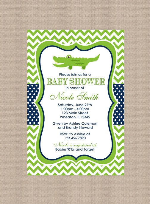 best 25+ alligator baby showers ideas on pinterest | navy and, Baby shower invitations