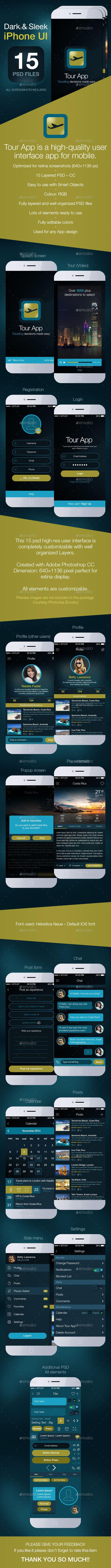 Tour App-Phone App UI