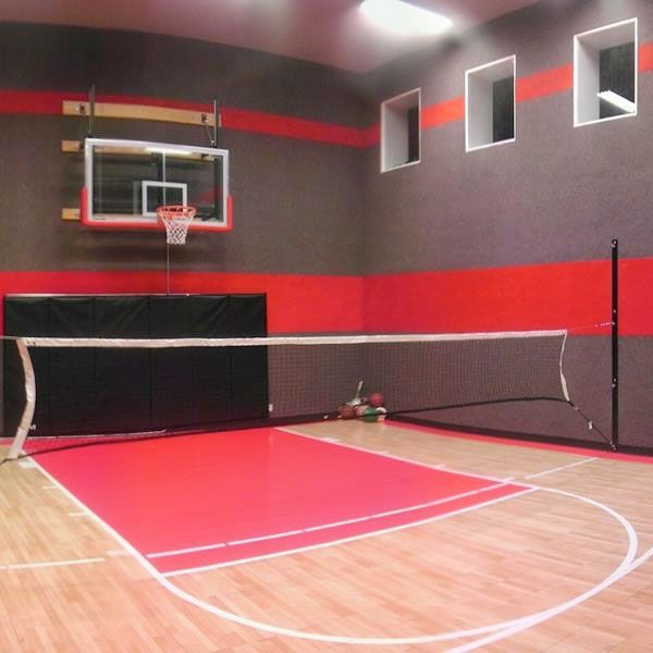 16 best photo collage on staircase wall images on for Indoor basketball court ceiling height