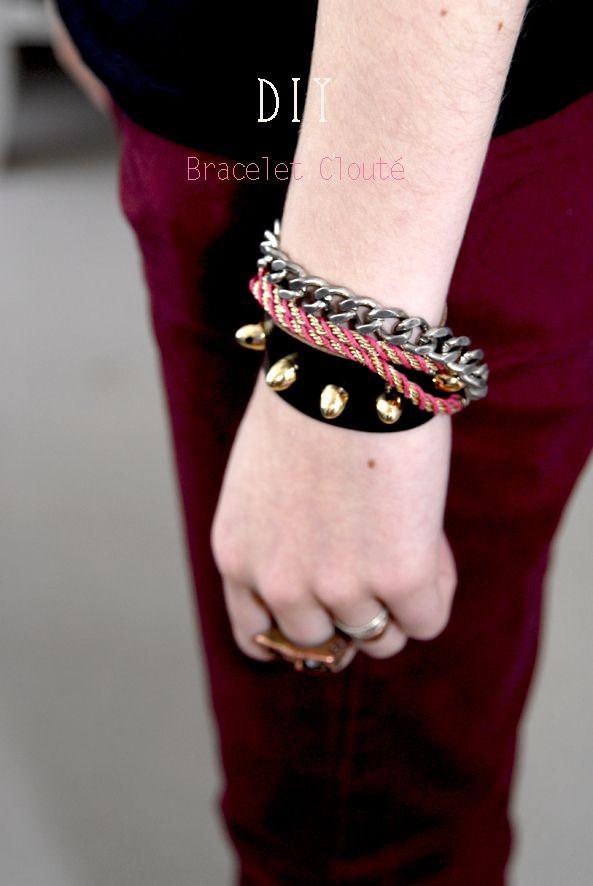 DIY Studded Bracelet Tutorial