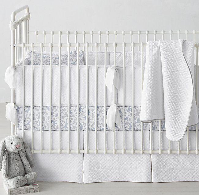 Vintage Washed Diamond Matelassse Crib Skirt Cribs Fitted Crib Sheet Crib Bumper