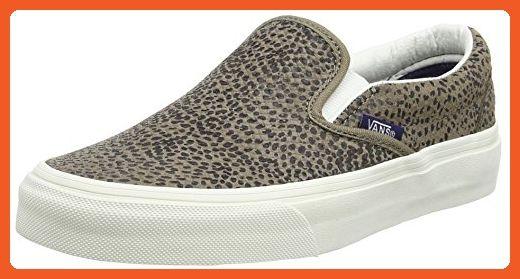 Vans Unisex Classic Slip On Cheetah Suede Skate Shoe-Cheetah Suede/Tan-5-Women/3.5-Men - Sneakers for women (*Amazon Partner-Link)