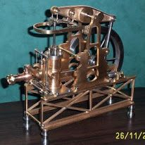 This is my replica model of a small steam driven 'beam engine' built by my g/grandfather built in Manchester in 1864