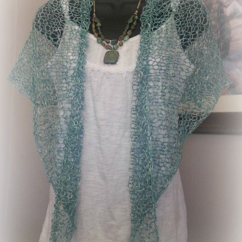 The Pattern For The Light And Airy Summer Sundae Shawl Is