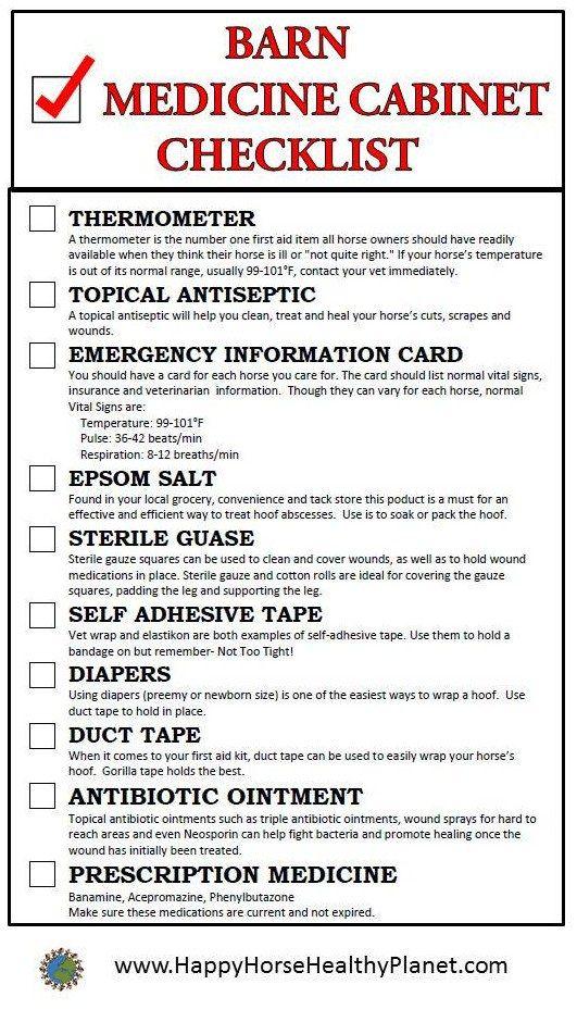 Barn first aid kit
