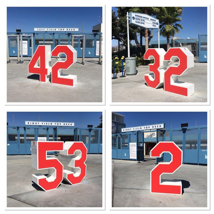 Retired Numbers Plaza at Dodger Stadium - my favorites