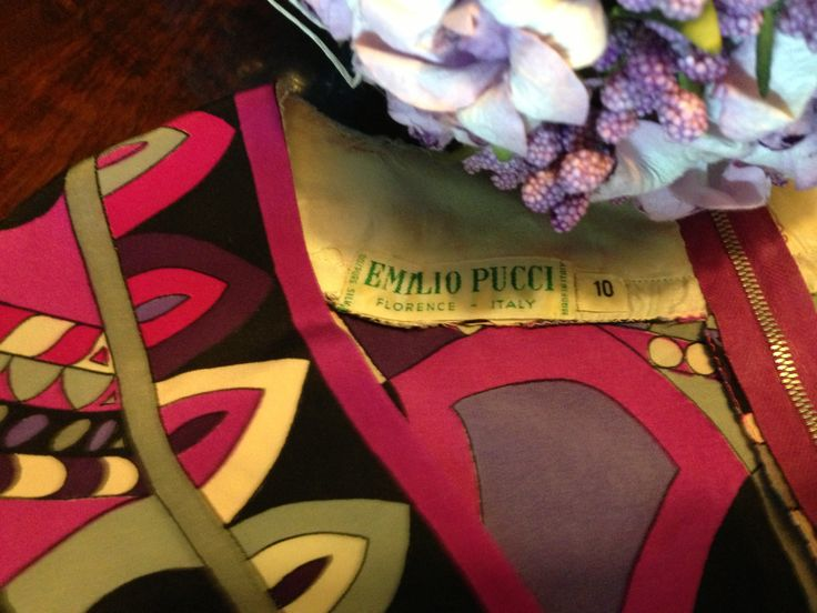 #PUCCI pure #silk shirt or mini dress. Label