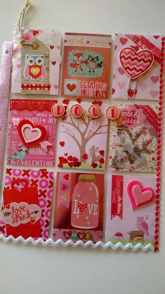 Pinky Valentine's Day pocket letter. Red just says it all.