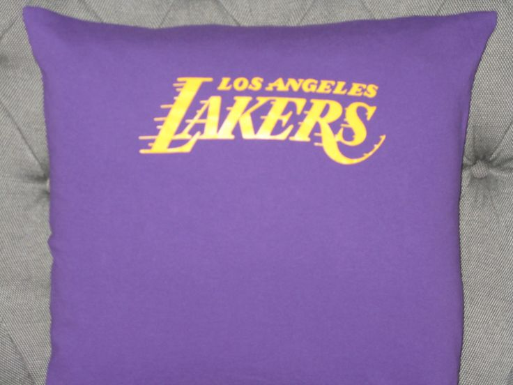 Los Angele Lakers T Shirt Throw Pillow by ThePastureRoad on Etsy