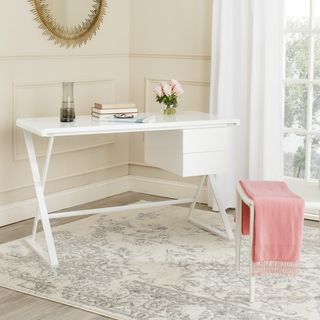 Safavieh Watkins White Desk | Overstock™ Shopping - Great Deals on Safavieh Desks