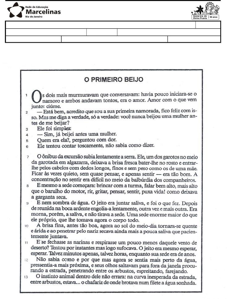 1. TIPO DE AVALIAÇÃO: Lista de Exercícios - Recuperação Nome: Nº 8º ano / Ensino Fundamental Turma: Disciplina(s): Português Data: Professor(a): Érica Beatriz Nota:…