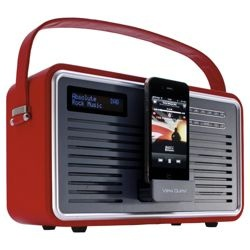 Early christmas present.  Viewquest Retro Dab Radio With iPhone / iPod Dock. - Red from Tesco direct