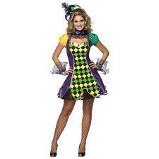 Mardi Gras Costumes for Women Jester Outfit Fancy Dress, true
