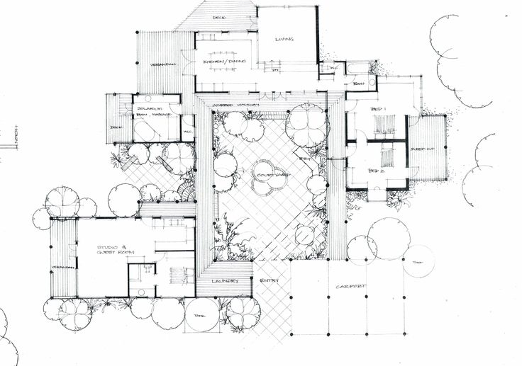 Courtyard House Plan Chinese Architecture Pinterest