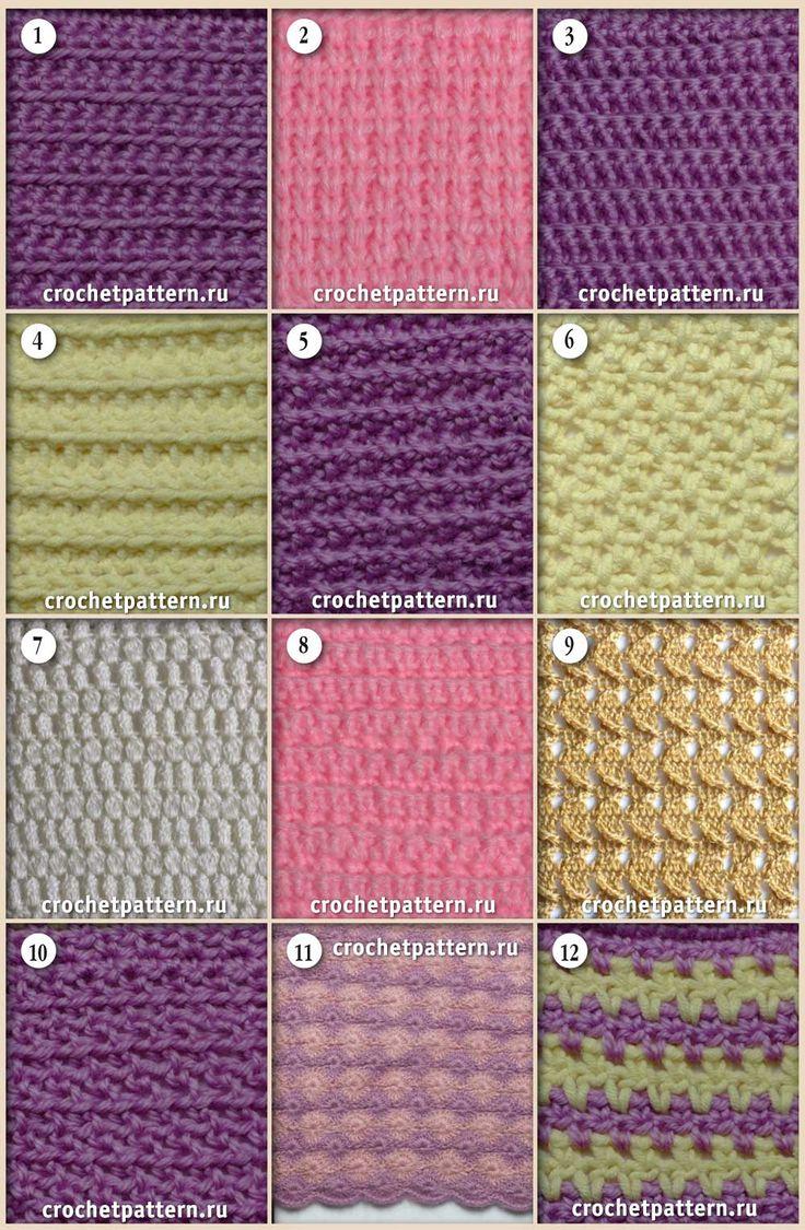 Página №36. Padrões e padrões para crochet.
