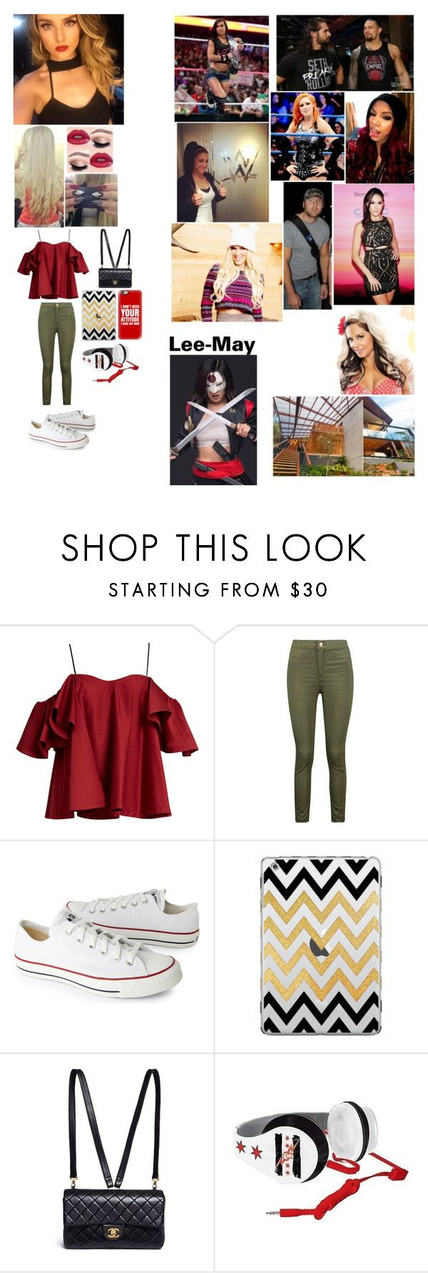 """""""When your X-treme, You don't die, You Multiply"""" by kaitlyngilmore ❤ liked on Polyvore featuring Anna October, Boohoo, Converse, Casetify, Chanel, WWE and KR3W"""