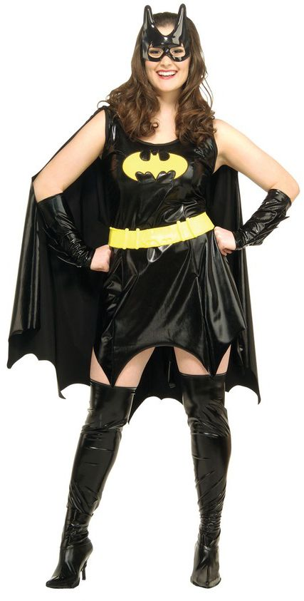 Batgirl Costume, Comes with Dress with Cape, Glovelets, Mask, Belt and Boots Tops. #FancyDress #Costume #Superhero #Licensed #Official #Batgirl #Batman #Robin #PlusSize