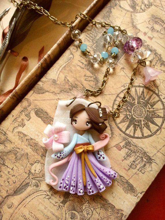 lady gheisha cameo doll