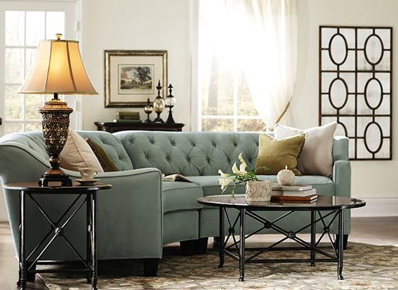 Riemann Curved Tufted Sectional Sofas And Loveseats Living Room Furniture Homedecorators In 2019 Pinterest Couch